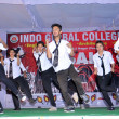 Students of Indo Global Colleges performing at stage on annual day