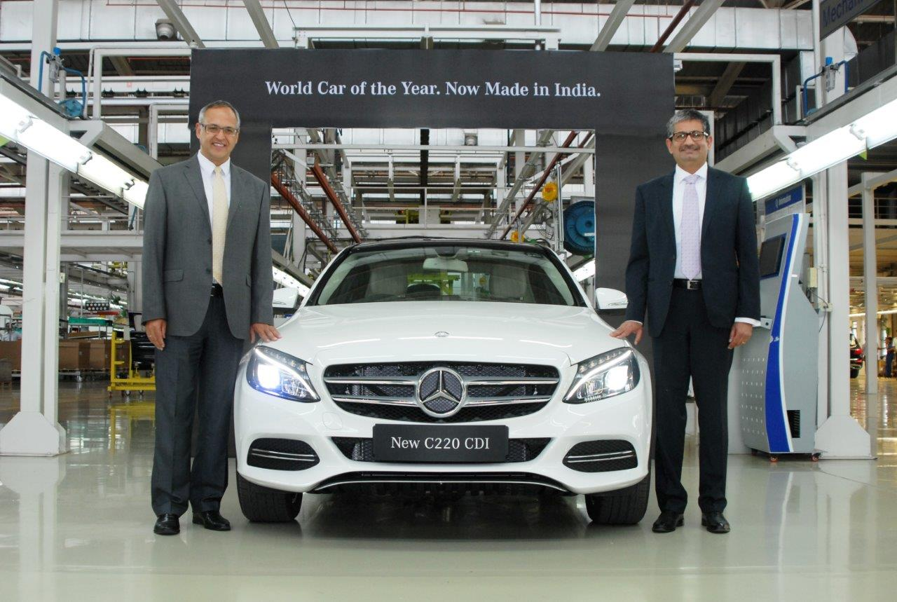 Mercedes benz rolls out the new c 220 cdi at rs for Mercedes benz ceo