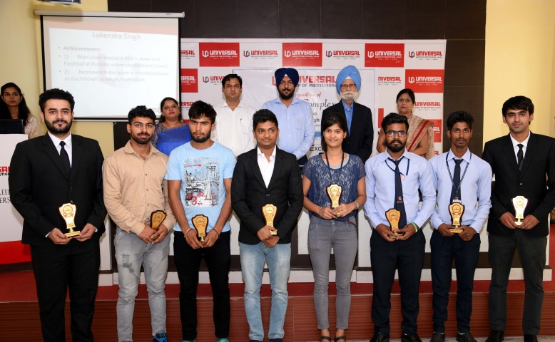 Universal group of Institutions organised UGI Achievements ceremony. Balbir singh, Triple Gold Olympian copy (Small)