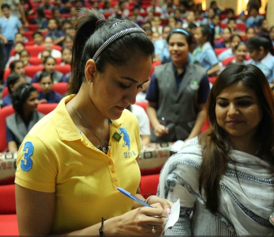 Manika Batra in Chitkara University