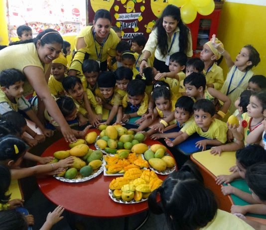 Yellow & Mango Day Celebrated At Adarsh Public Smart School