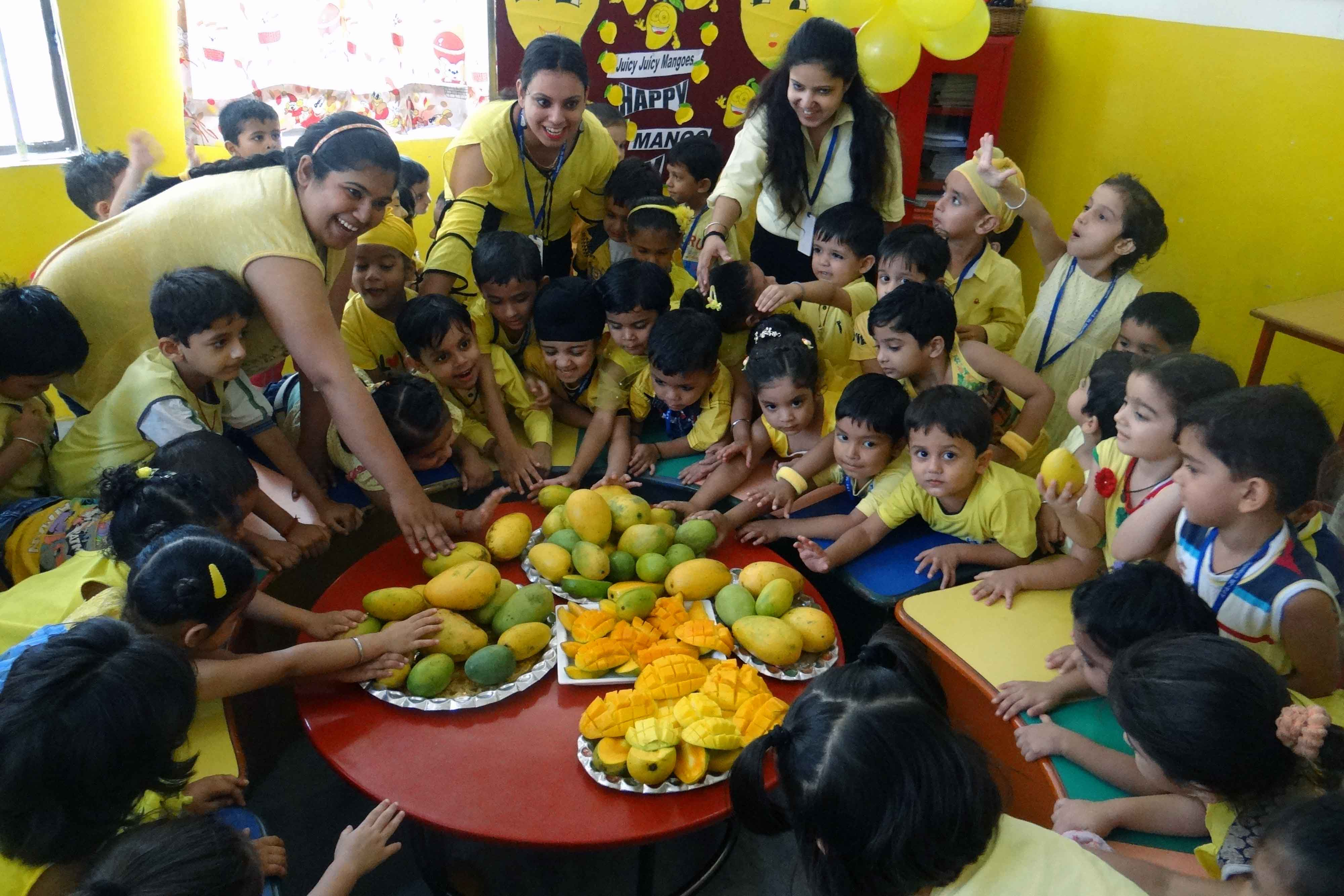 Yellow & Mango Day Celebrated At Adarsh Public Smart School