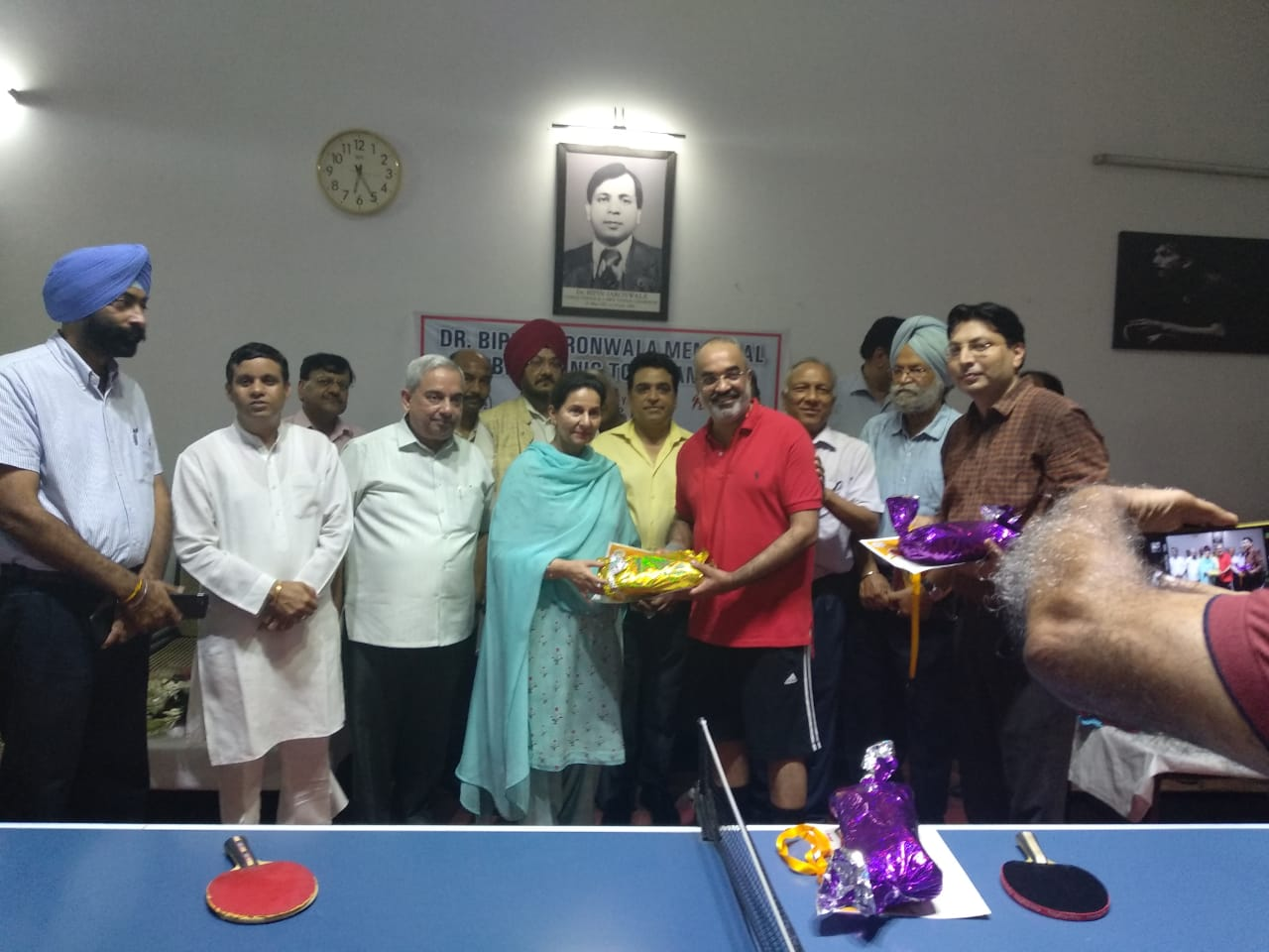 Dr H S Gill Wins Two Golds In Veteran Table Tennis