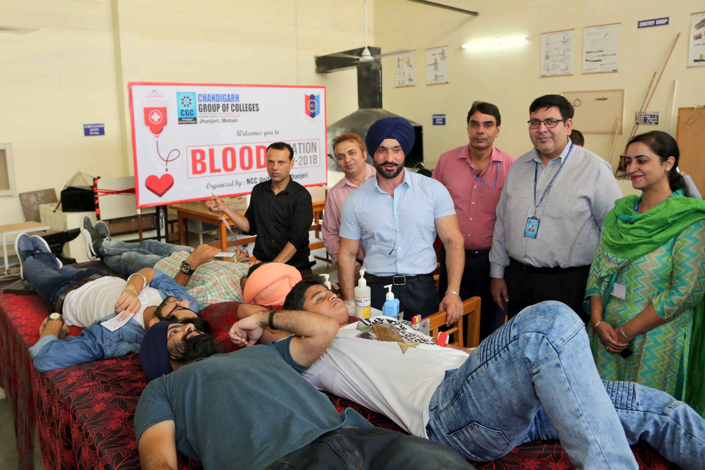 Blood Donation Camp in CGC Jhanjeri
