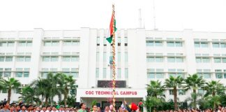 Chandigarh Group of colleges Jhanjeri celebrated 72th Independence Day with great enthusiasm in an environment filled with patriotic expressions