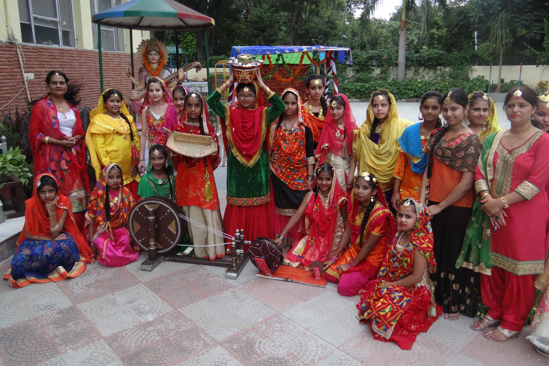 Teej Celebration at Adarsh Public Smart School
