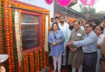Chandigarh's MP Kirron Kher today laid the foundation stone of 5 public toilet's block in Burail villag