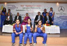 Mercedes Signs An Mou With Maharshi Karve Stree Shikshan Samstha