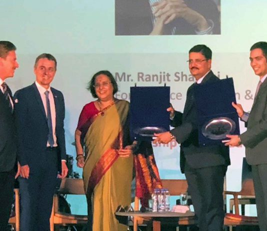 RUJ Group Awarded On The Occasion Of 70th Anniversary Of Swiss-Indian Friendship
