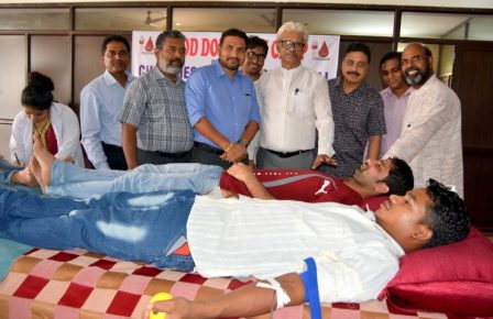 Blood donation camp organised at Sharon Fellowship Church
