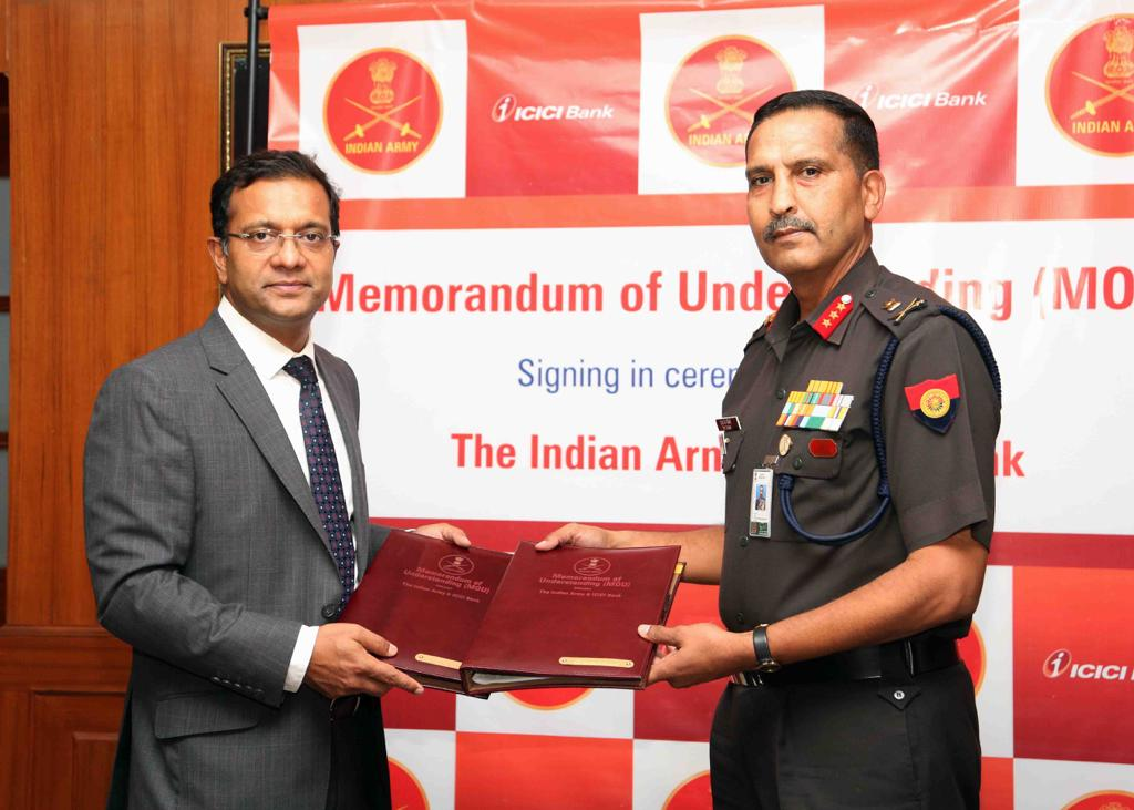 ICICI Bank - Indian Army tie-up