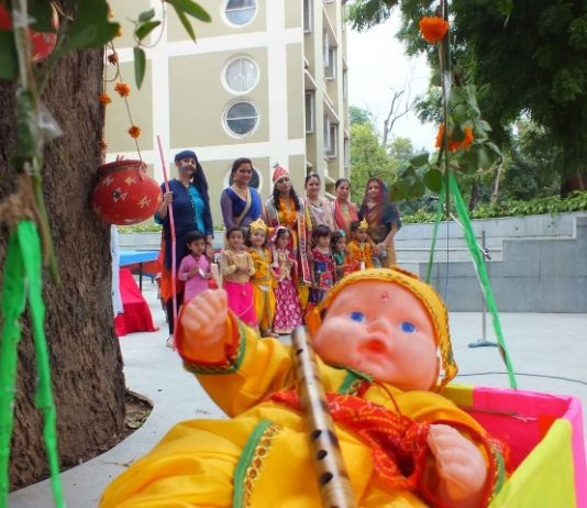 Janmashthmi celebrated at Ankur school