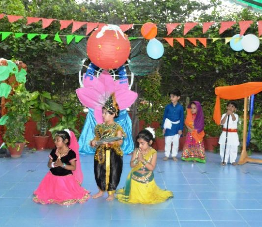 "Woodlands House School Celebrated ""Janmashtami"