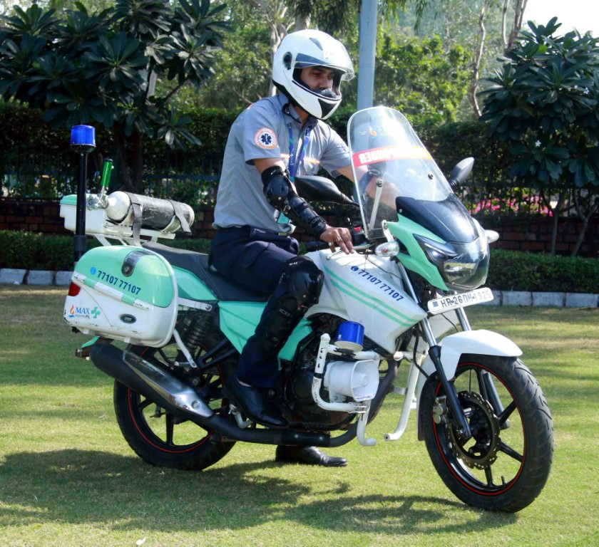 First Responder Bikes launched by Max Hospital Mohali