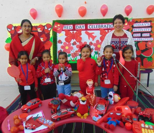 RED COLOUR DAY CELEBRATION at SMD