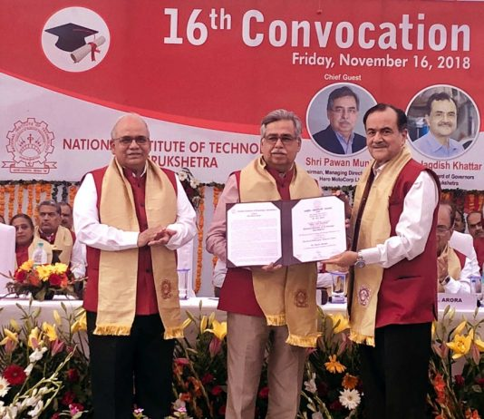 NIT Kurukshetra confers honorary doctorate to Pawan Munjal