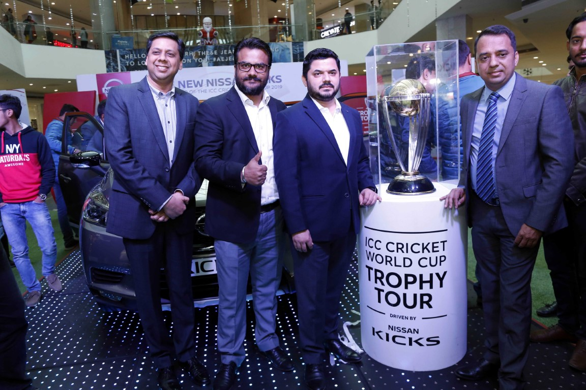 India tour of Nissan Kicks-ICC World Cup Trophy concludes at Chandigarh