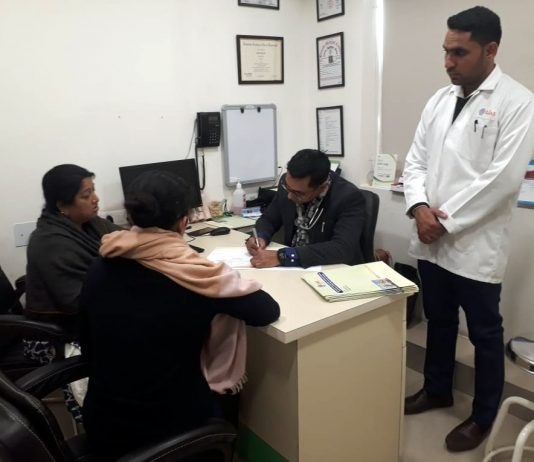 Multi-Specialty health camp held at Ojas Hospital