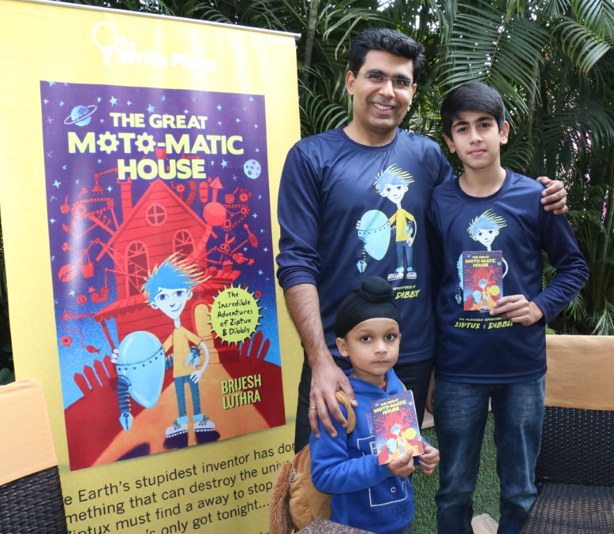 Brijesh Luthra debuts with a Scintilating Sci-Fi book for Kids - The Great Moto-Matic House