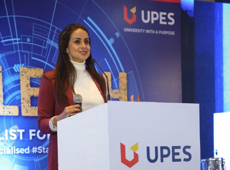 Gul Panag encourages students to become a specialist at UPES 'Unleash'