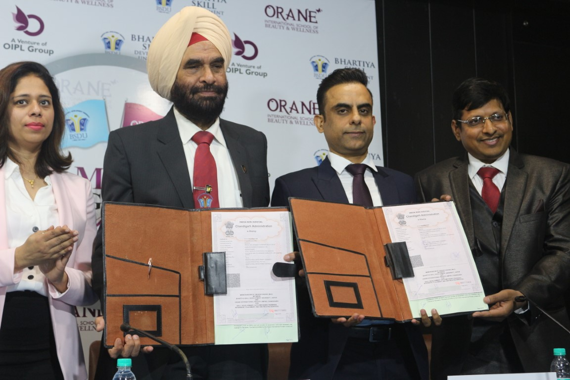 NSDC Partner Orane joins hands with Bhartiya Skill Development University