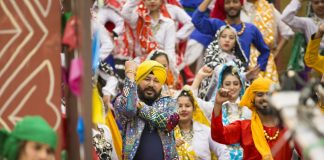 Daler Mehndi & Sapna Choudhary shoot for Haryanvi party number