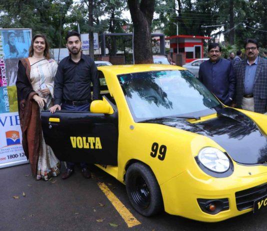 """SVIET student develops high speed electric Car """" SVIET VOLTA"""""""