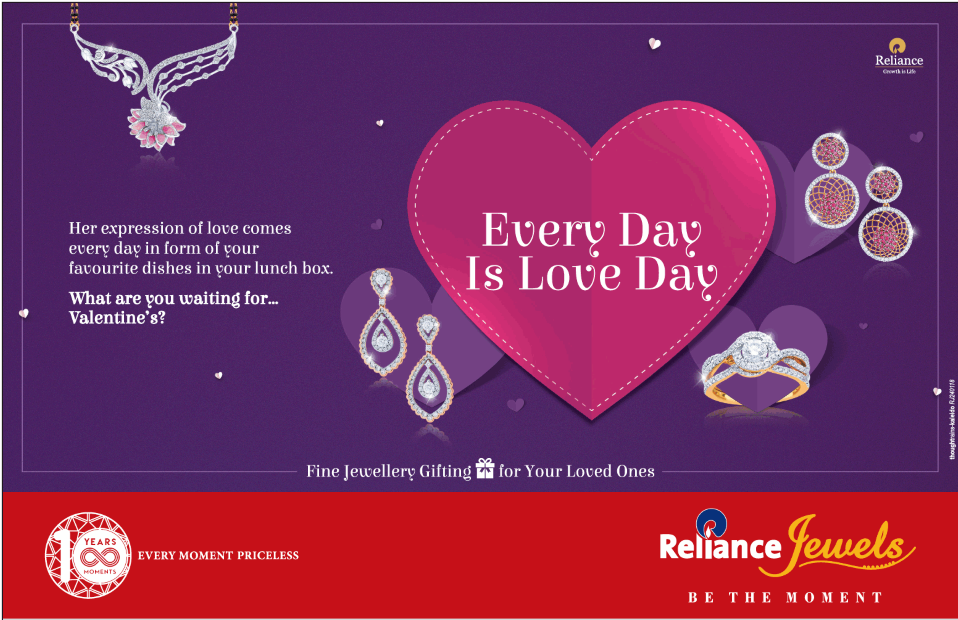 """Reliance Jewels unveils its Valentine's special Collection """"Beeloved"""""""