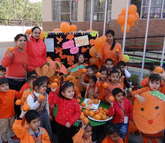 Orange Day celebrated at Adarsh Public (Smart) School