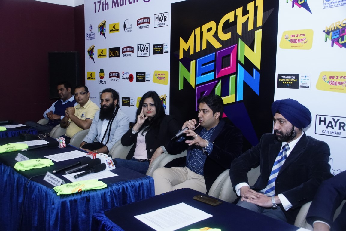 Second edition of NIA Centenary Mirchi Neon Run is about to set Chandigarh a glow