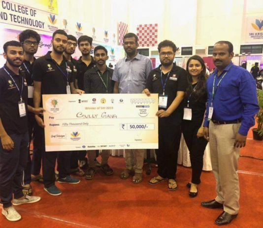 Chitkara University Team 'Gully Gang' bags first prize at SIH-2019