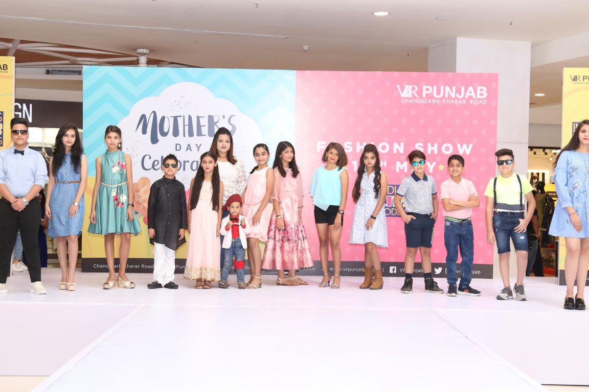 Mothers walk the ramp with their kids at VR Punjab