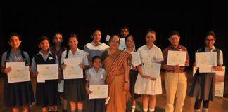 Sahayta charitable welfare society organizes anti tobacco declamation contest for school children