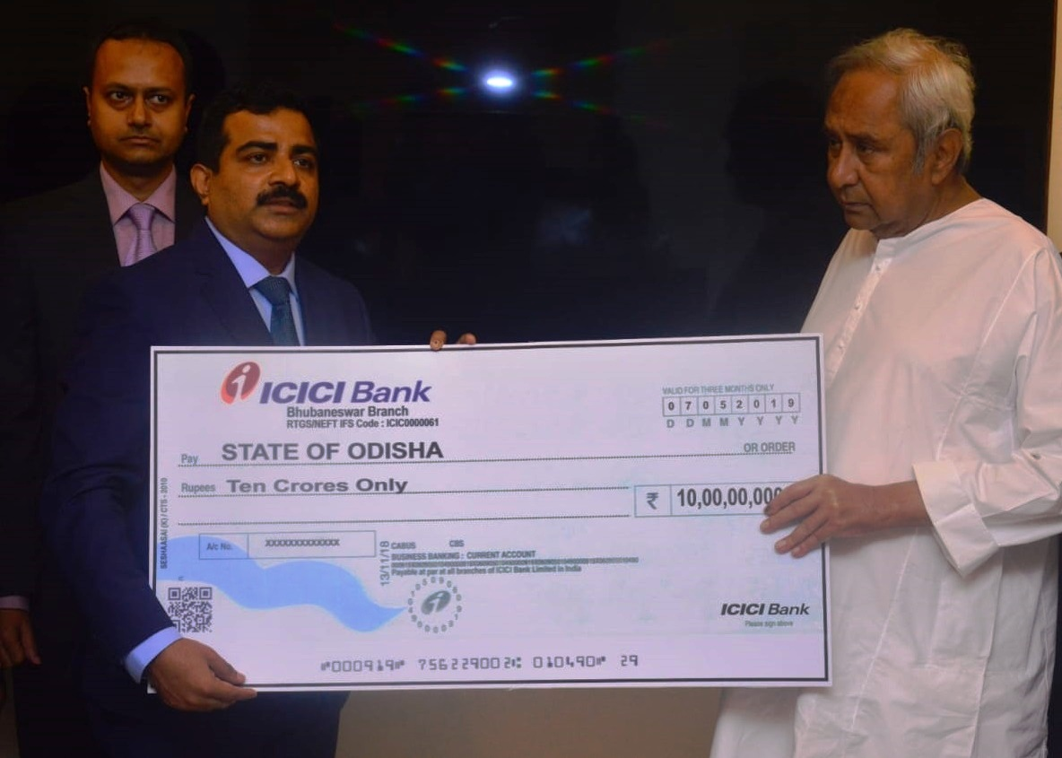 ICICI Bank contributes Rs. 10 crore towards Odisha cyclone relief