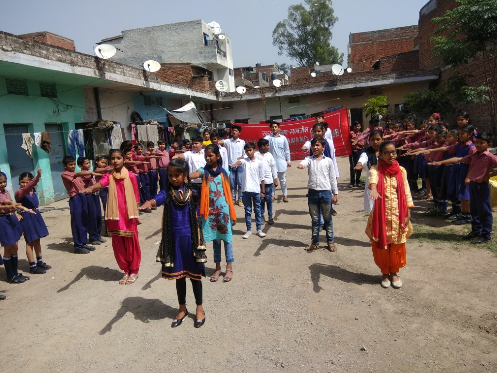 Maharishi Dayanand Public School organized a Skit on water resources