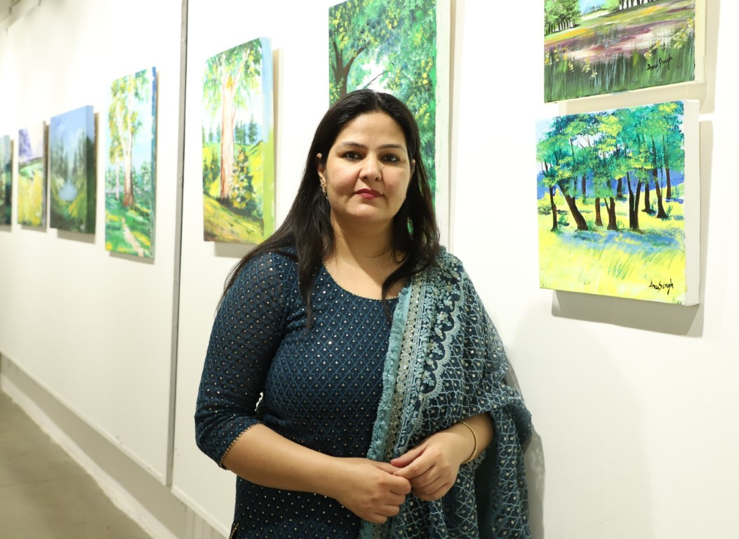 Self-made artist, Anu Singh's art exhibition straddles the territories of both art and nature