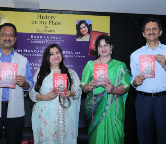 Lily Swarn launched her latest book 'History on My Plate'