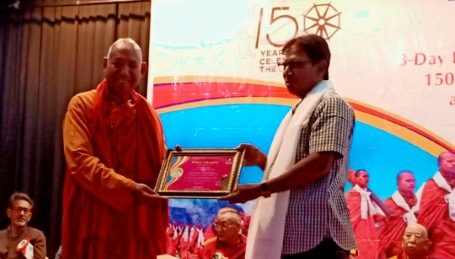 Narvijay Yadav honoured at the International Conference on Environment