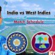 India tour of West Indies Full schedule: Ind vs WI Fixtures, Team Squad & Venue