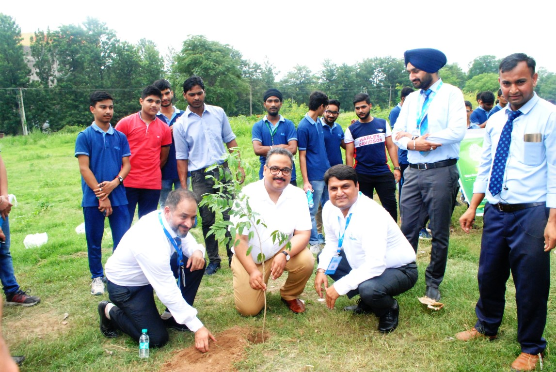 Aakash students and faculty hold tree plantation drive