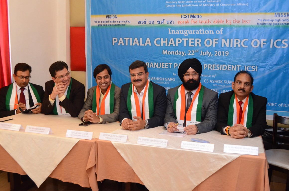 ICSI Opens its Chapter office in Patiala, Fourth in Punjab
