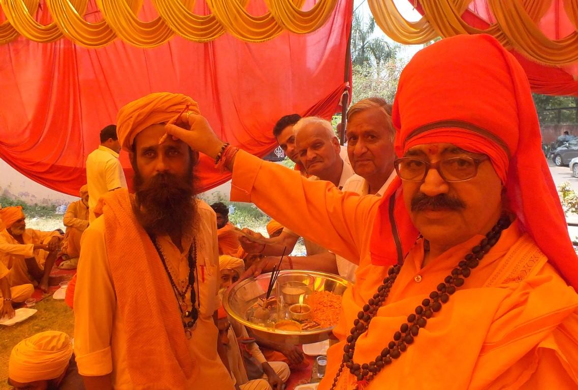 Sadhu Sants and Mahatmas arrived at Shri Mahavir Muni Mandir