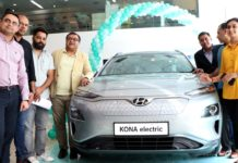 India's first fully electric SUV 'KONA Electric' launched in city