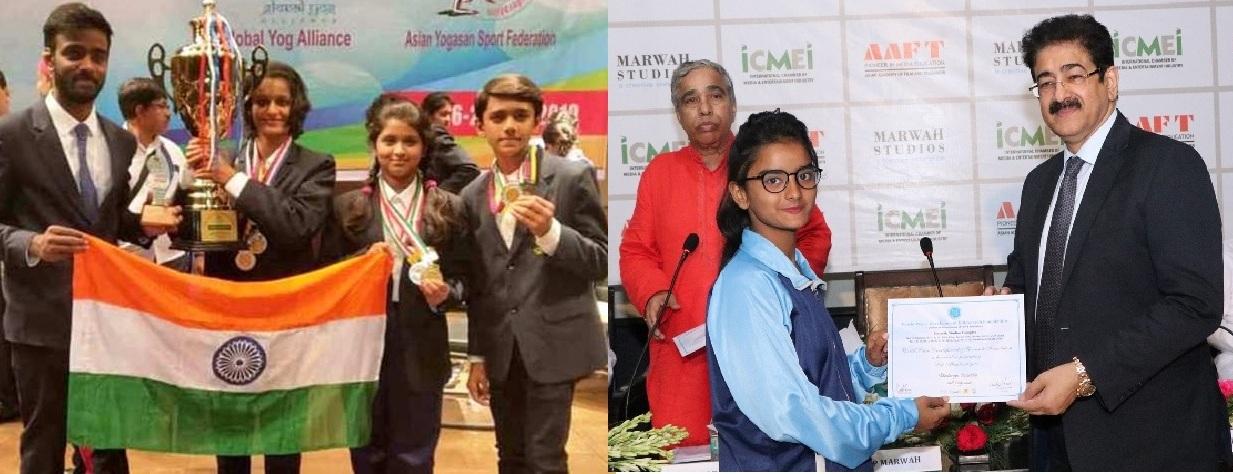 India wins the 1st Asian Yogasana Championship