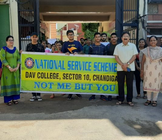 Tree plantation drive organized at DAV College under the aegis of Jal Shakti Abhiyan
