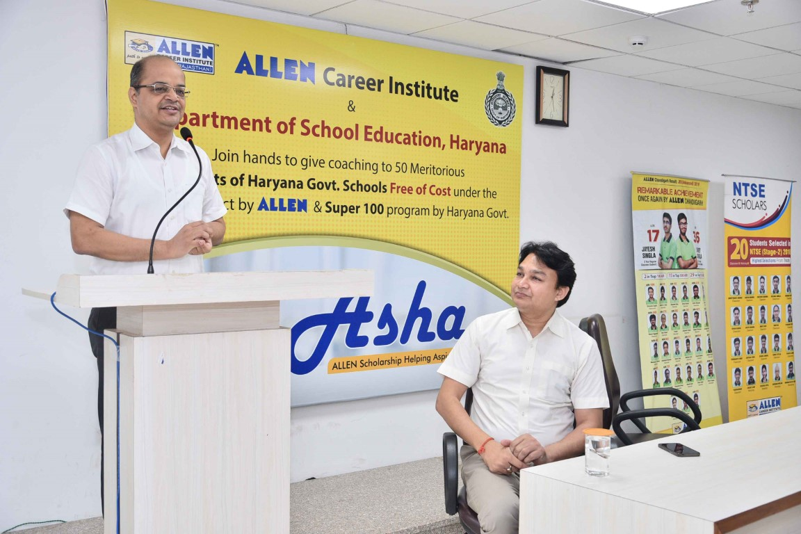 Allen joins hands with Education Department Haryana under its 'ASHA' Project