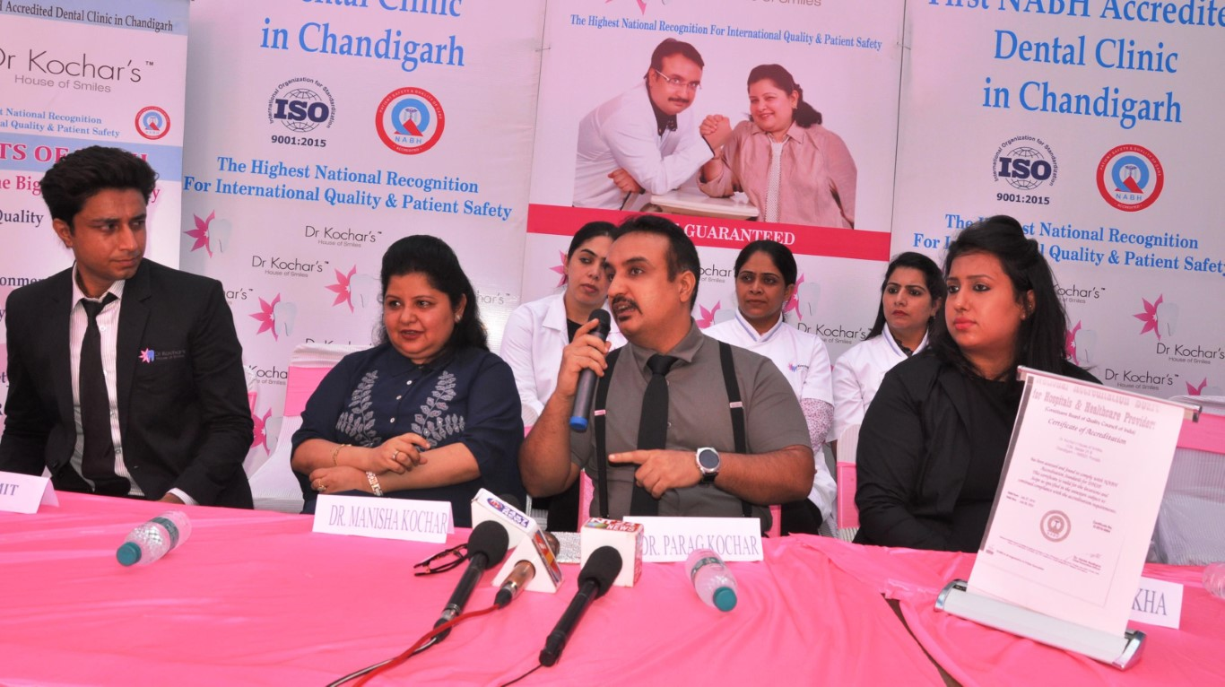 Dental Clinic gets National accreditation, sets the benchmark in the dental sector of the city