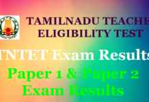 TN TET Paper 1 Result 2019 Released at trb.tn.nic.in