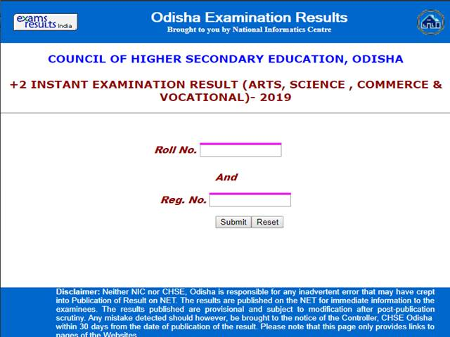 CHSE Odisha +2 Result 2019 Declared
