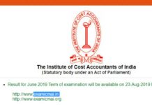 ICMAI Result 2019 Declared